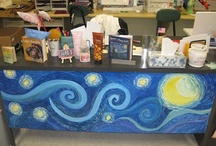 Art teacher desk area