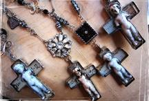 Crosses and Rosaries / #crosses #crucifix #rosaries / by Sheri Nye