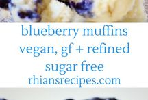 Vegan Muffins / Vegan muffin recipes - blueberry, lemon, chocolate, apple, carrot muffins. All dairy and egg free. Gluten-free and refined sugar free options included