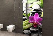 Duschrückwände von Fofela.de / Hier findest du eine  paar Anregungen für Deine neue Duschrückwand- Bestellung unter www.Fofela.de