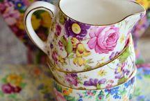 China, Tea cups & Tea pots / by Stephanie Dole Harris