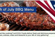 Z.E.N. Foods 4th of July / Healthy meals promo for the 4th of July