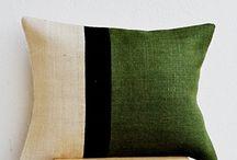 Burlap Color Black pillow