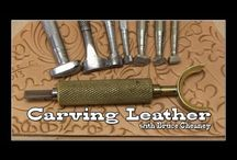Leathercraft / Leather choice, tips and techniques, cutting, sealing, burnishing and polishing, softening.......