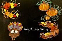Fall theme Face Paints