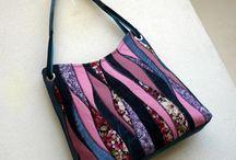 сумки из ткан и вязанные