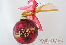 Rich Reds Glass Ornament