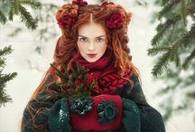 Зимняя фотосессия идеи