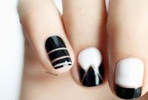 Black & White Nails / Ultra-chic nails in only black and white / by CutexUS