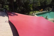 Shade Sails for Pool Area. / Custom made shade sails to provide sun protection.