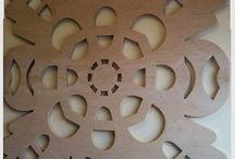 Na ścianę - On the wall / Wycinanki z drewna i sklejki do dekoracji ścian i regałów