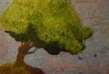 My Watercolor Batik Paintings / Artwork