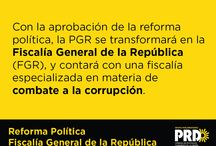 Reforma Política / PGR ahora Fiscalía General de la República
