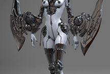art robots, cyber, mecha