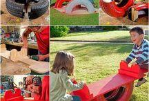 Kids tyre playground ideas