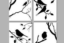 Silhouette d'oiseau