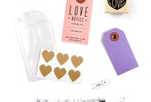 Stationary Fun / #stationary #gifts #valentinesday #invitations