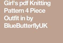 PDF KNITTING PATTERN 4 PIECE OUTFIT BY BLUEBERRYBUTTERFLYUK