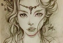 Art Ideas ~people >faces>hair