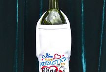 Wine Bottle Aprons by Lillie's Threads