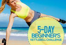 Exercising / Kettle bells