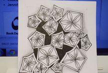 My zentangles / I am newbeginner  in drawing Zentangles, and I love it..