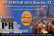 PR TRAINING, Houston, TX / Help for new PR pros, and for those who communicate on behalf of their organizations.
