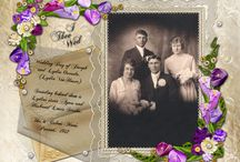 Wedding and vintage layouts / by Elaine Hopper