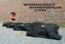 Brick wall Workout Sandbags photos