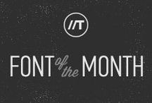 Font of the Month - January 2015 / by Tonic Design Creative