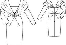 PPC - Robe fourreau / Divers patrons de robes fourreau Robe droite moulante (sheath dress)