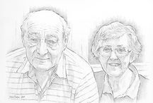 My Portraits / Examples of my portrait paintings and drawings from photographs. Commission portraits of family, friends or pets.
