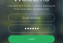 iOS login design
