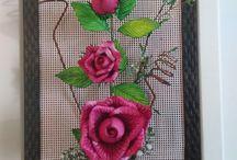 ARRANJOS COM FLORES EM EVA / Diversos modelos de arranjos com flores em EVA