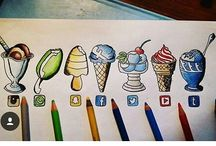 Drawing - Social sites and other