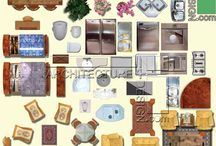 "PSD architectural furniture symbols / Photoshop ""PSD"" file: a collection of furniture in plan view (and some in elevation view) for rendering architectural plans with Photoshop software. Graphical furniture can be used in  architectural plans rendering, graphic design and… .If you want to use this kind of presentation for Autocad DWG files, you can print a PDF file format of your drawing and open it in Photoshop and import objects by drag and drop."