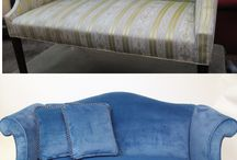 Before and After furniture by Blawnox Upholstery / Before and After pictures of furniture reupholstered by Blawnox Upholstery