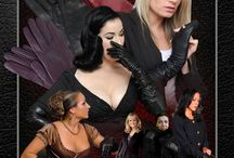 Ladies in Leather Gloves Posters