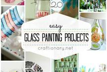 Glass painting fun ideas / So love painting glass.... Thankful for all of the shared pins of glass painted!  Your passion is my passion as well! / by Cindy Corley Parrill