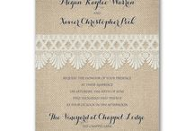 Burlap and Grace / Who knew burlap could look so graceful? Let Persnickety help you find the perfect touch of rustic grace with these lovely invitations.