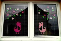 Jarní výzdoba okna