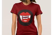 Vampire Themed Attire from Three Cats Graphics' Zazzle Shop / Vampire themed attire including t-shirts, sweatshirts, and more designed by Three Cats Graphics at Zazzle.