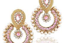 Traditional Indian Wedding Party Wear Kundan Dazzling Earrings