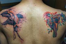 tattoo / bird tattoo