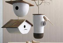Ceramic birdhouse