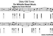 Irish folk tin whistle