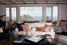 Orange and Navy Home Decor