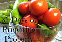 31 Days of Preparing Properly