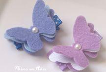 borboleta em feltro