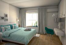 "_Interieurontwerp slaapkamer ""Turquoise"" / www.woonmakers.nl"